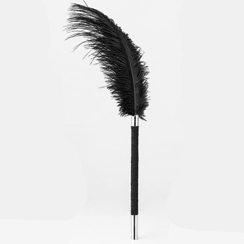 房趣鸵鸟毛黑白色调情羽毛