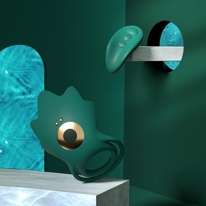 千度蜜 海星远程遥控双面强震锁精环